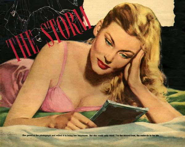 'The Storm', illustration from a women's magazine, 1952 (colour litho)