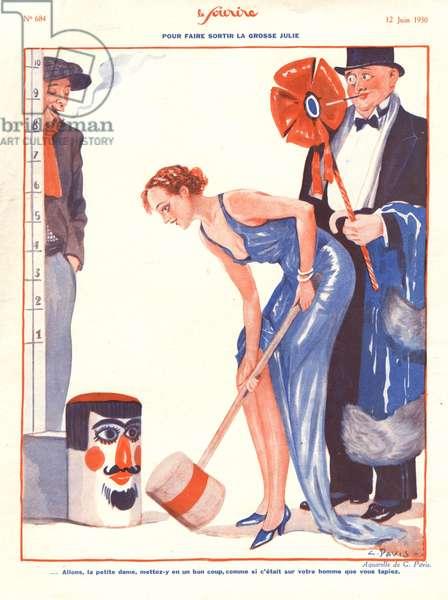 Illustration from 'Le Sourire', June 1930 (colour litho)