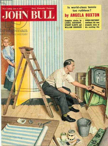 Front cover of 'John Bull', July 1957 (colour lithograph)