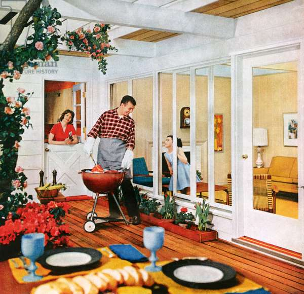 Barbecues, Magazine Advert, 1960s (colour litho)
