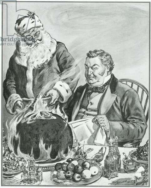 Father Christmas, illustration from 'John Bull' (litho)