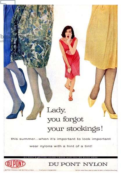 DuPont Magazine Advert, 1960s (colour litho)