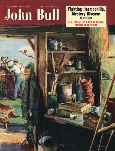 Front cover of 'John Bull', April 1951 (colour litho)