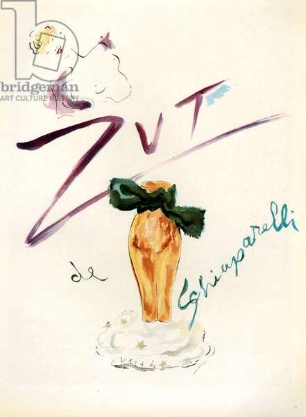 Schiaparelli Magazine Advert, 1948 (colour litho)