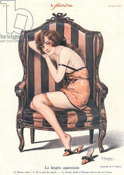 Front cover of 'Le Sourire', August 1927 (colour litho)