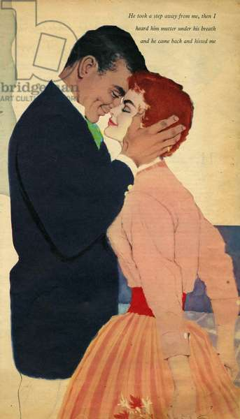 Illustration from magazine, 1950s (colour litho)