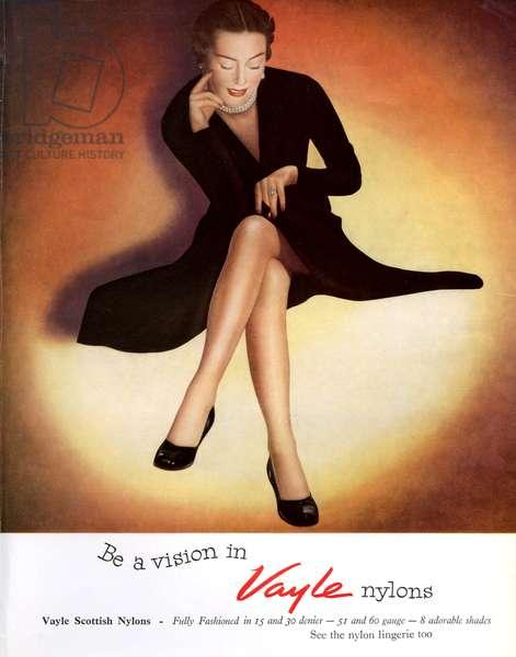 Vayle Magazine Advert, 1953 (colour litho)
