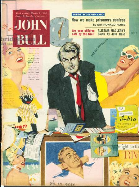 Front cover of 'John Bull', March 1958 (colour litho)