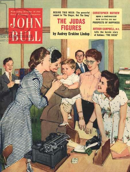 Front cover of 'John Bull', December 1955 (colour litho)