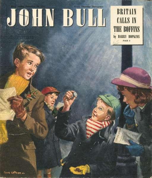 Front cover of 'John Bull', December 1947 (colour litho)