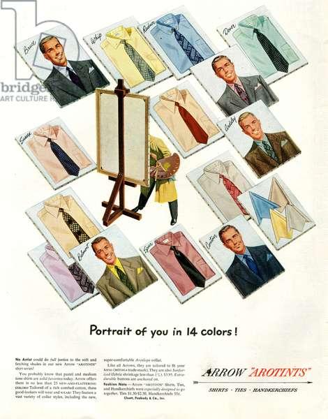 Arrow Magazine Advert, 1949 (colour litho)