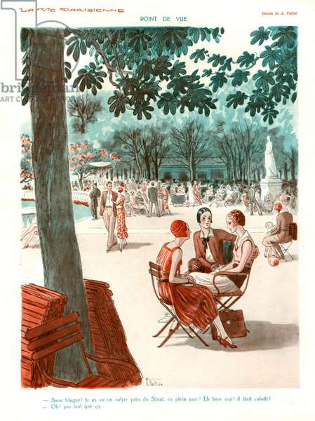 Point de Vue, illustration from 'La Vie Parisienne', 1920s (colour litho)