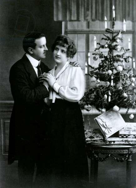 Christmas postcard (litho)