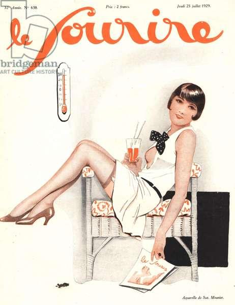 Front cover of 'Le Sourire', 1929 (colour litho)