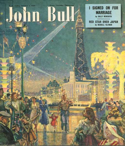 Front cover of 'John Bull', October 1949 (colour litho)
