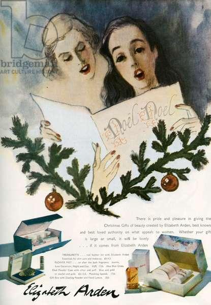Magazine advert for Elizabeth Arden, 1948 (colour litho)