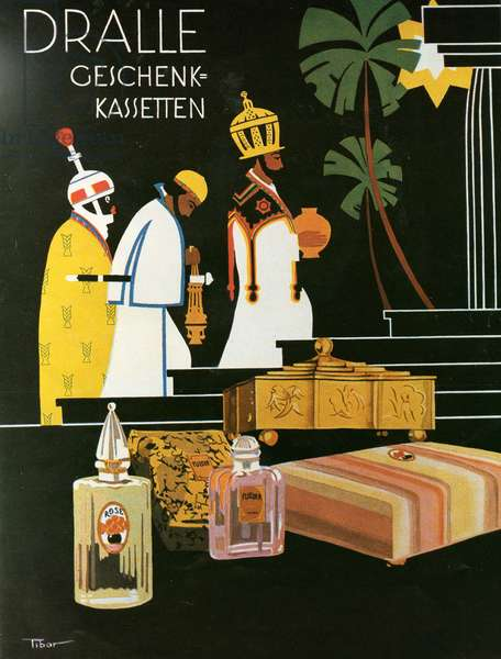 Dralle perfume poster, 1920s (colour litho)