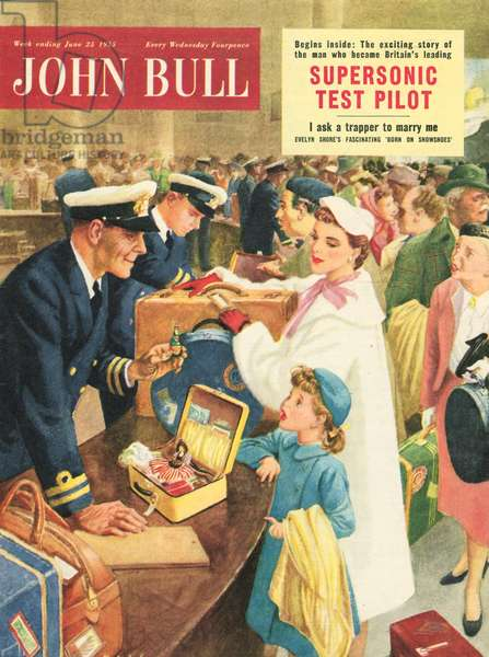 Front cover of 'John Bull', September  1955 (colour litho)