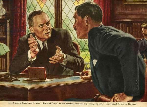Illustration from 'John Bull', 1952 (colour litho)