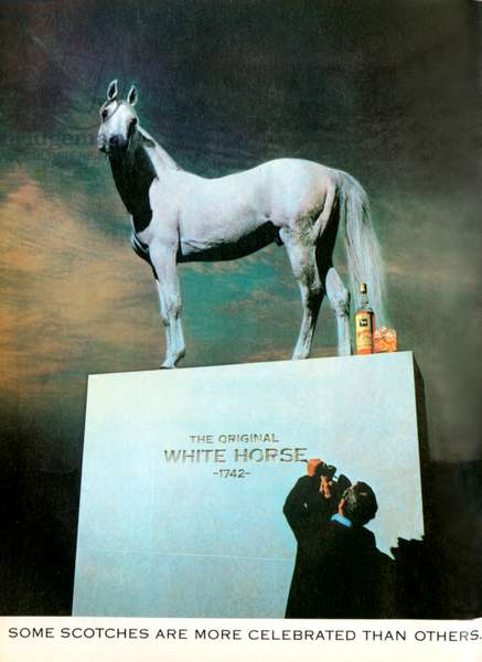 Magazine advert for White Horse, 1978 (colour litho)