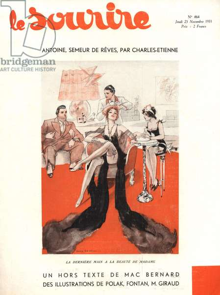 Front cover of 'Le Sourire', November 1933 (colour litho)