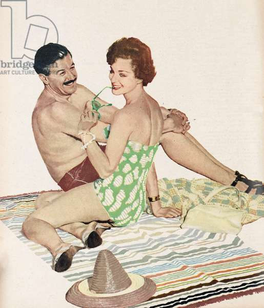 Illustration from a women's magazine. 1959 (colour litho)