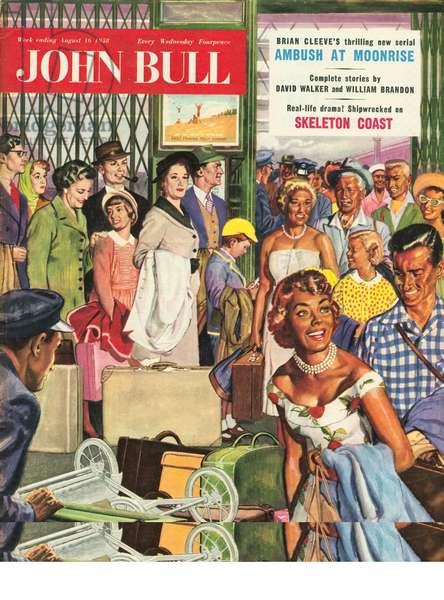 Front cover of 'John Bull', August 1958 (colour litho)