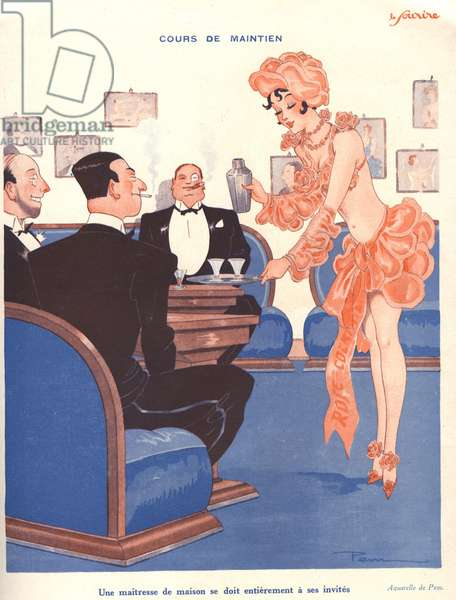 Illustration from 'Le Sourire', 1930s (colour litho)