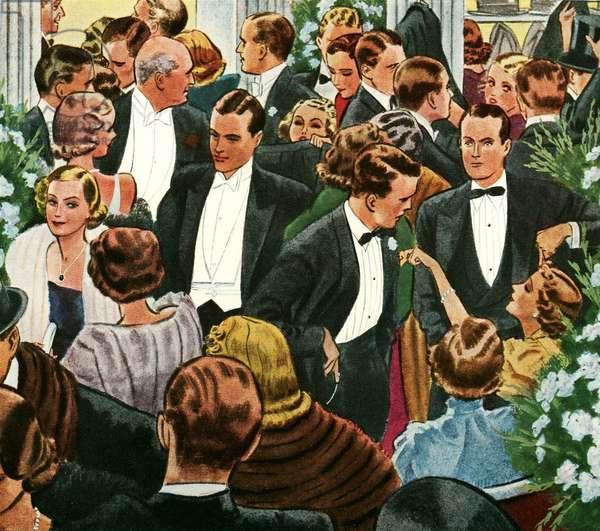 Arrow Magazine Advert, detail, 1940s (colour litho)