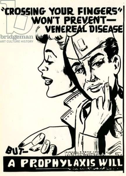 STDs Poster, 1940s (litho)