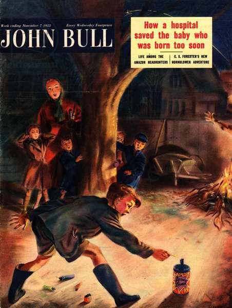 Front Cover of 'John Bull', November 1953 (colour litho)