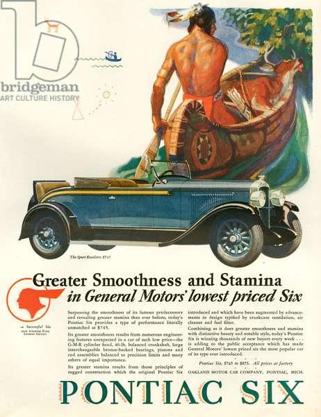 Pontiac Magazine Advert, 1928 (colour litho)