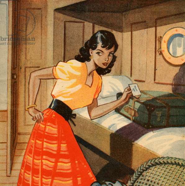 Magazine illustration, 1950 (colour litho)