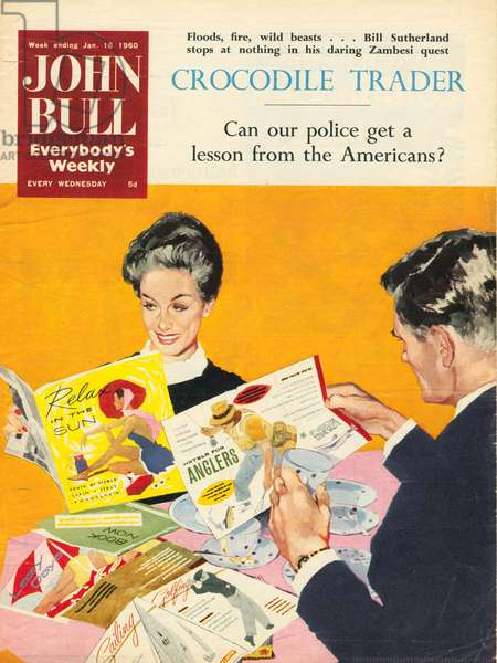 Front cover of 'John Bull', January  1960 (colour litho)