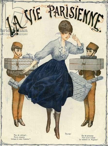 Front cover of 'La Vie Parisienne', 1916 (colour litho)