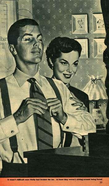 Illustration from magazine, 1958 (litho)