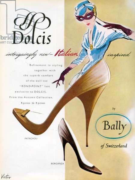 Dolcis Magazine Advert, 1950s (colour litho)