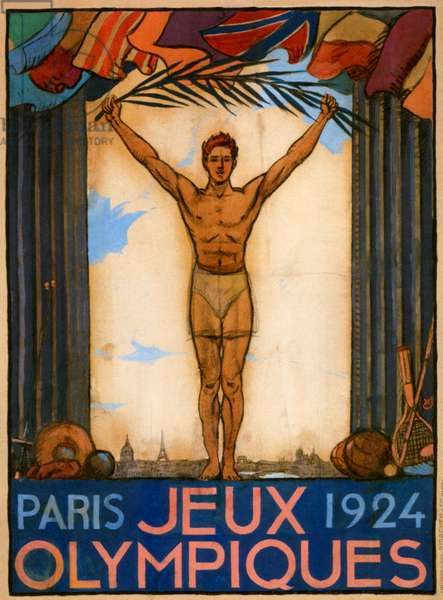 Olympic Games poster, 1924 (colour litho)