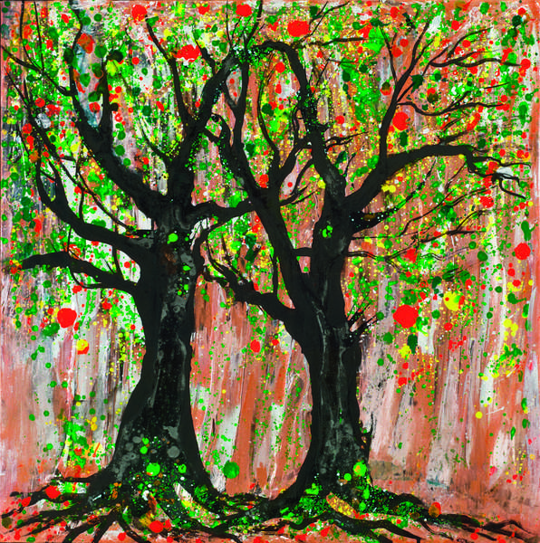 Pomegranate Tree, 2012 (acrylic & ink on canvas)