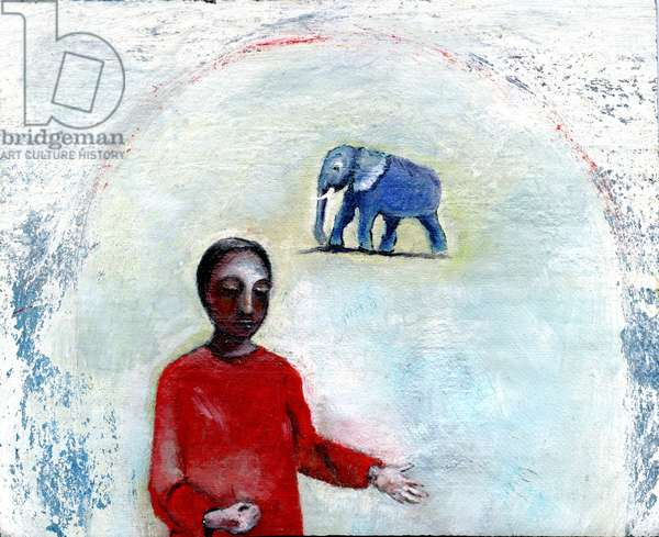 Blue Elephant Day, 2004, (oil on linen)