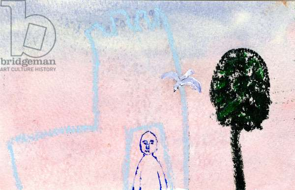 My Castle, A Seagull and A Cyprus Tree, 2005 (mixed media)