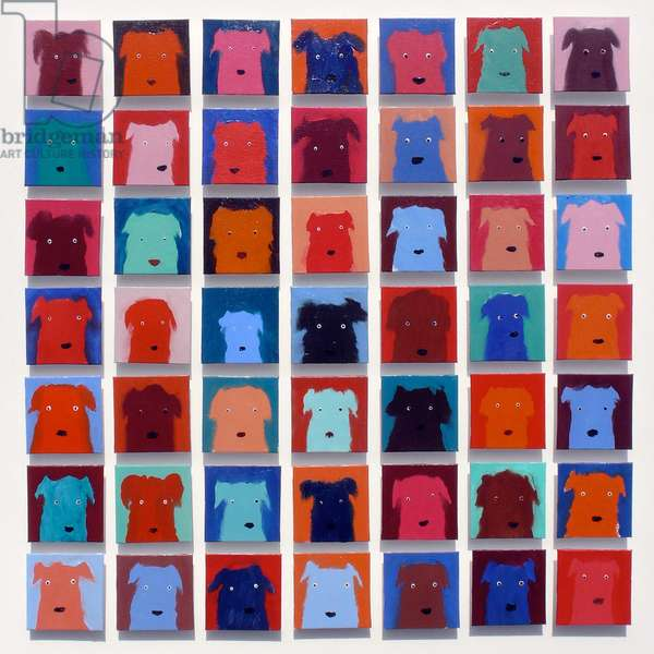 49 Dogs, 2012 (oil on canvas)