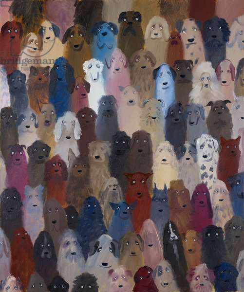 Dog Crowd, 2018 (oil on canvas)