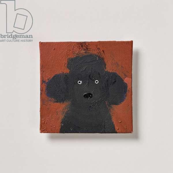 Black Poodle, 2020 (oil on canvas)