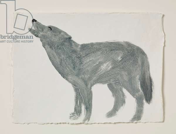 Wolf, 2016 (oil on paper)
