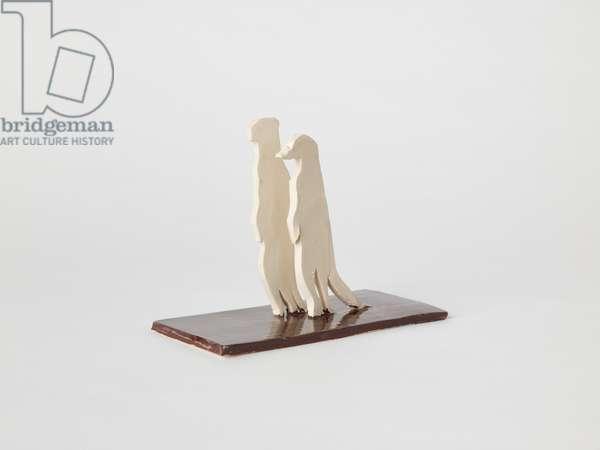 Meerkats, 2016, (ceramic)