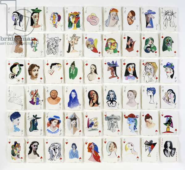 A Pack of Picasso's Women, 2015 (gouache on paper)