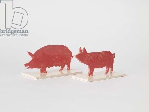 Pigs, 2018, (ceramic)
