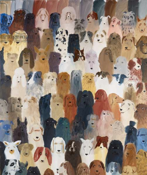 Dog Assembly 1, 2016 (oil on canvas)