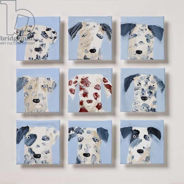 Nine Dalmatians 2, 2020 (oil on canvas)